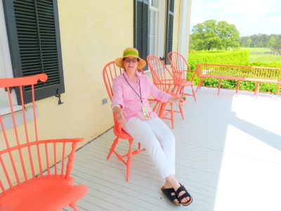 Author relaxing at the home of P Allen Smith during G2B13 event