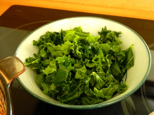 gently steamed kale