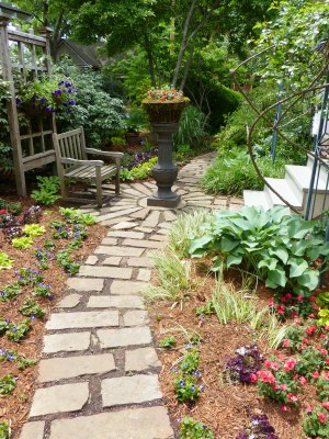 garden paths guide the visitor