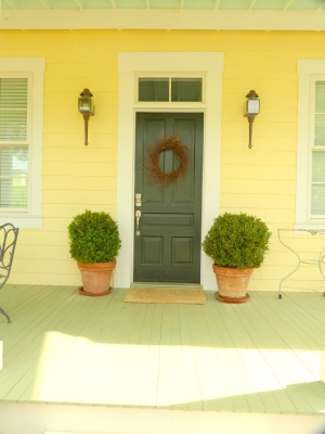 Front door of the cottage