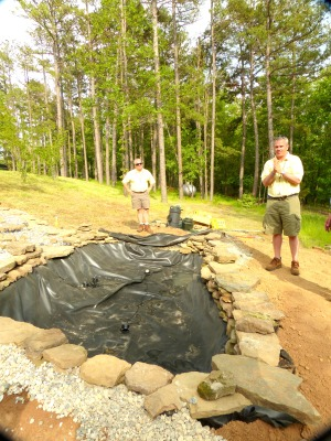 Laguna constructing cottage water feature