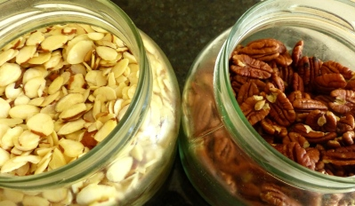 almond and pecan stash