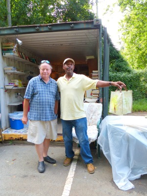 The man on the left is a retired solid waste employee and the wonderful man on the right, Our Man Emanuel, is the daily manager of the site.