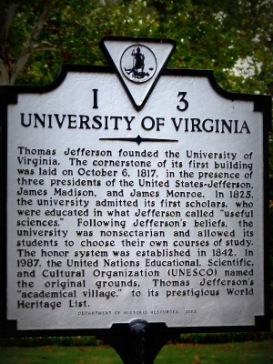 The University of Virginia was originally founded in 1819. Construction began in 1822.