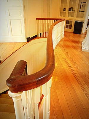 magnificent restored stair rail system