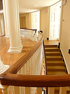 another view of the complex staircase leading to the Dome Room. The restoration took four months to complete.