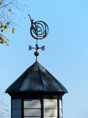the Institute's logo weathervane