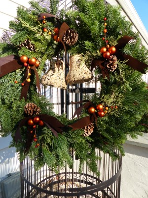 chocolate spice wreath from P Allen Smith's Holiday Collection