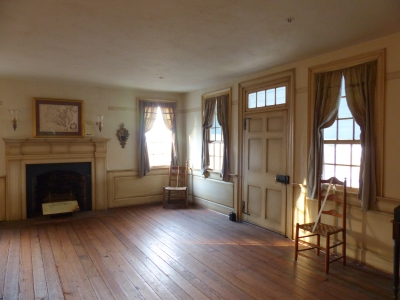the upper ballroom at Michie Tavern