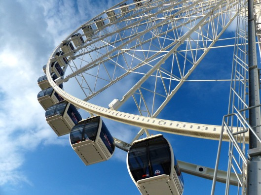 The Captial Wheel, similar to the London Eye, only smaller