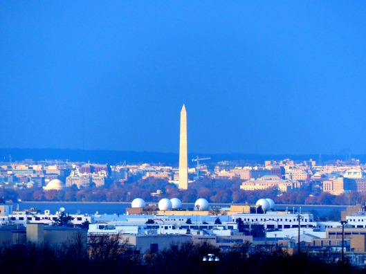 the view from the top of the Capital Wheel looking at the Washington Monument. Impressive!