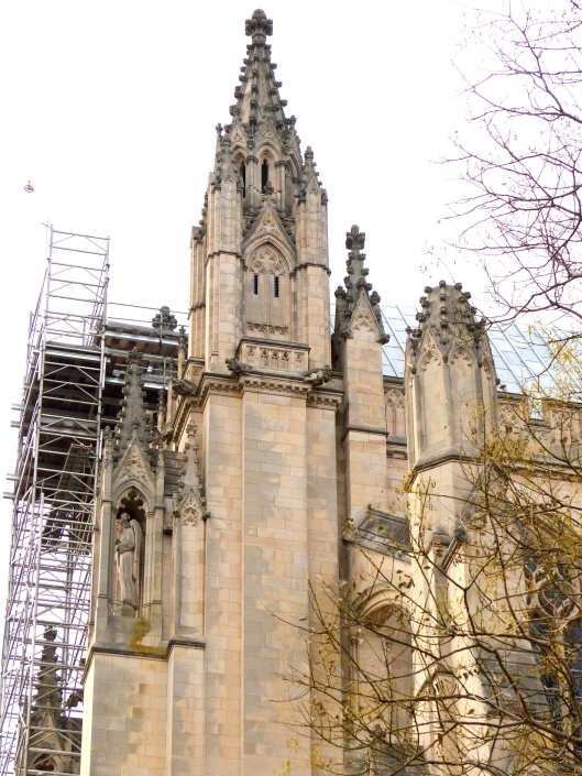 broken spires await expensive repairs...so sad for this magnificent building