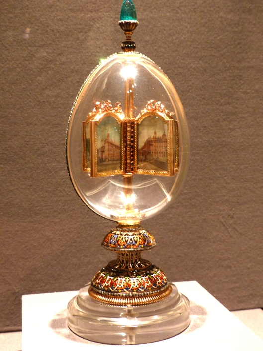 wild swings now...a Faberge egg...most of the vast collection is on tour in China now...boo!