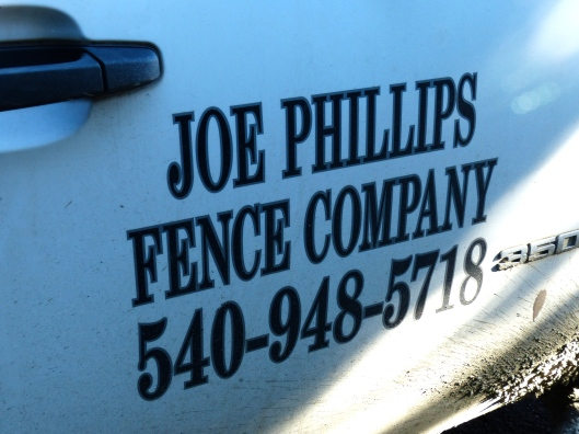 Joe Phillips is the MAN for fencing projects in central Virginia