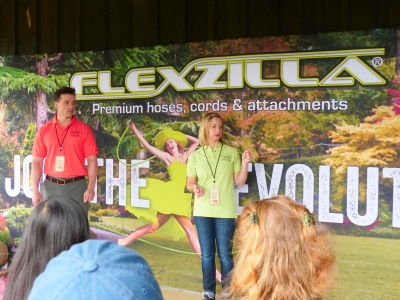 this presentation by Corbin and Rachel  from Flexzilla (flexzilla.com) was informative and entertaining. Legacy Manufacturing Company invented this fantastic hose...every garden should have at least one.