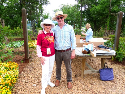 Allen and I in the one-are garden; a special friend in a special place (pallensmith.com)