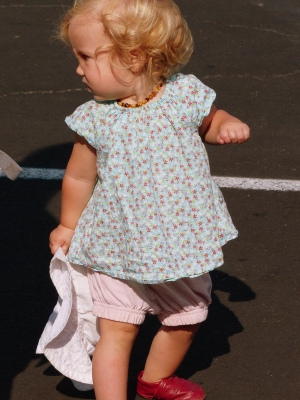 Toddlers make great subjects as they free flow through the market
